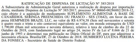 Canabidiol é liberado para pacientes do DF sem decisão judicial
