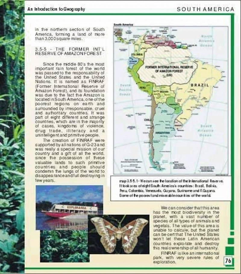 É verdade que a Amazônia pertence aos Estados Unidos?