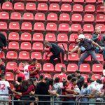 Imagens da briga entre os torcedores do Flamengo no Morumbi