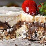 Receita de sobremesa gelada : Torta de sorvete