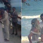 Karina Bacchi e Amaury Nunes se casam em cerimônia luxuosa na praia e famosos marcam presença