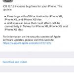 Apple lança o IOS 12.1.2 com várias melhorias