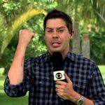 """Repórter da Globo """"perde a linha"""" em festa de fim de ano, se machuca e faz piada ao vivo"""