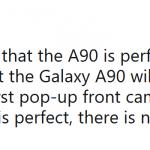 Galaxy A90 poderá ser o primeiro da Samsung com câmera pop-up