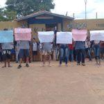 Professores sem salários: Alunos da Escola Estadual princesa Daiana fazem protesto
