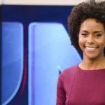 Após ganhar bancada do Jornal Nacional, Maju ganha homenagem de apresentador da Globo