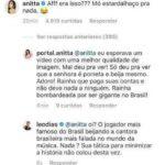 Anitta e Leo Dias discutem na web após vídeo de beijo em Neymar