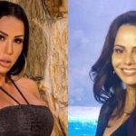 """Viviane Araújo se choca com revolta de Gracyanne Barbosa e responde a atual do ex-marido: """"Tenho maturidade"""""""